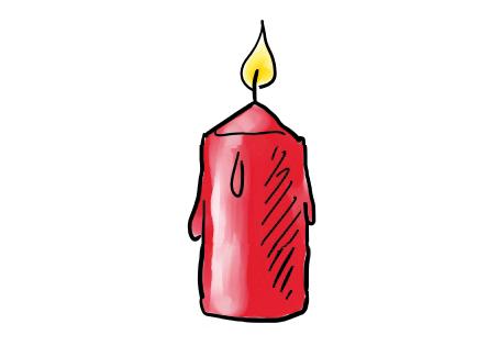 Kerze Weihnachten