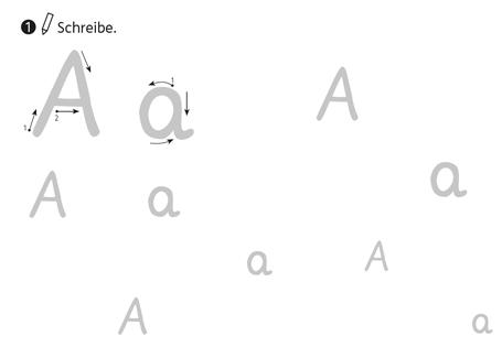 Buchstaben Grundschrift