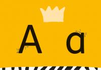 Die Königsbuchstaben In Grundschrift Als Aushang Für Die Erarbeitung