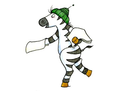 Zebra Dienstekärtchen