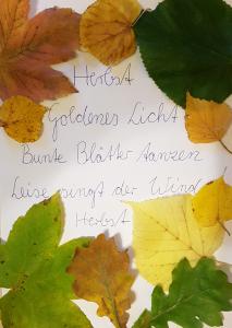 Sachunterricht Herbstprojekt: Herbstgedicht