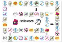 Grundschulbog Englisch Colour Land Halloween Spielplan