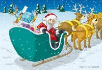 Weihnachtsmann und Schlitten