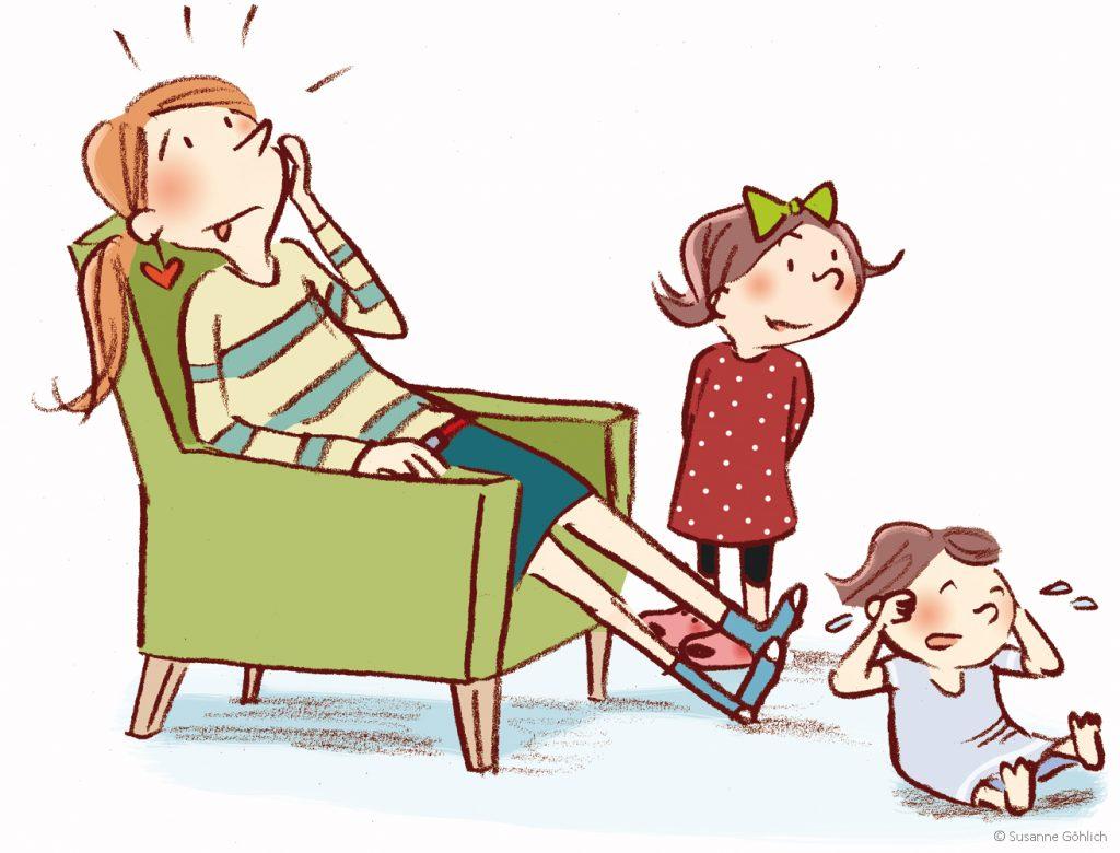 """Illustration Susanne Göhlich, Erstleser, Kinderbuch, """"Wann ist endlich Donnerstag?"""""""