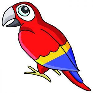 Papagei-Spiel Stationenlauf Geld