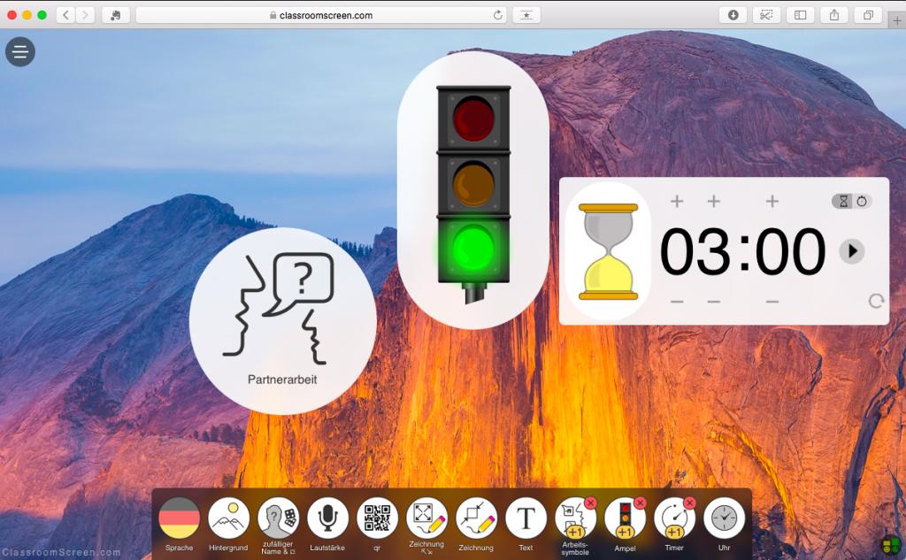 Screen ClassroomScreen