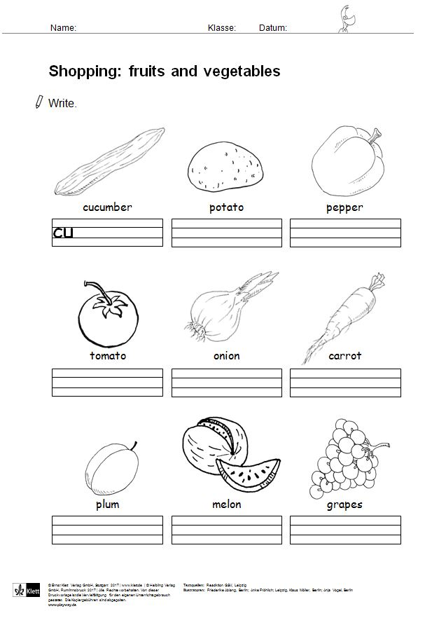 arbeitsblatt fruits and vegetables grundschul blog. Black Bedroom Furniture Sets. Home Design Ideas