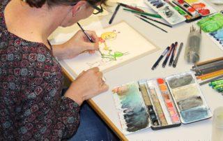 Bücherwurm-Freundetag, Illustratorin Bettina Reich