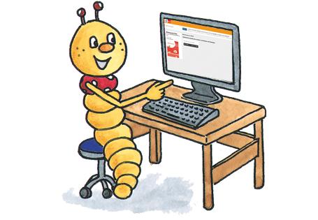 Wurm am PC