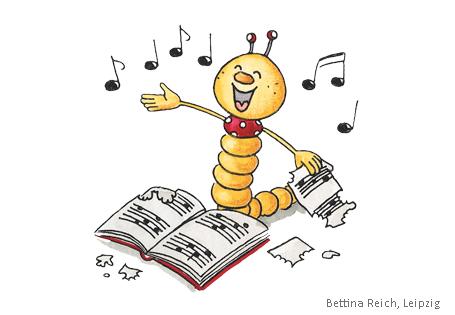 Bücherwurm singt