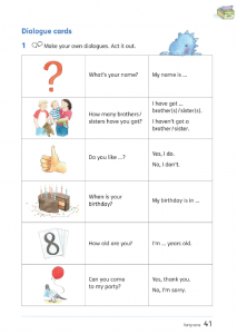Colour Land bilingual dialogue cards