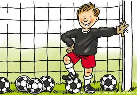 Grundschule Mathematik Fussball WM Junge im Tor