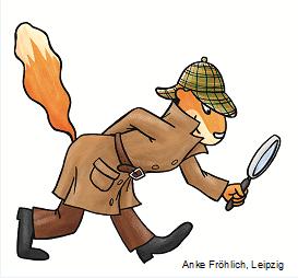 Piri aus dem Pirifanclub als Detektiv