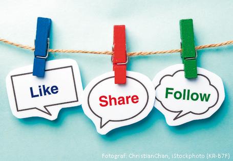 Social Media Umfrage Sprechblasen